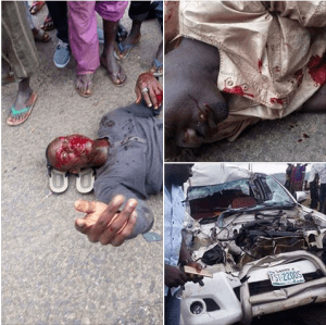 High Way @ The FCT Goes Bloody As Unidentified Passengers Involves In A Ghastly Motor Accident {See Graphic Photos}